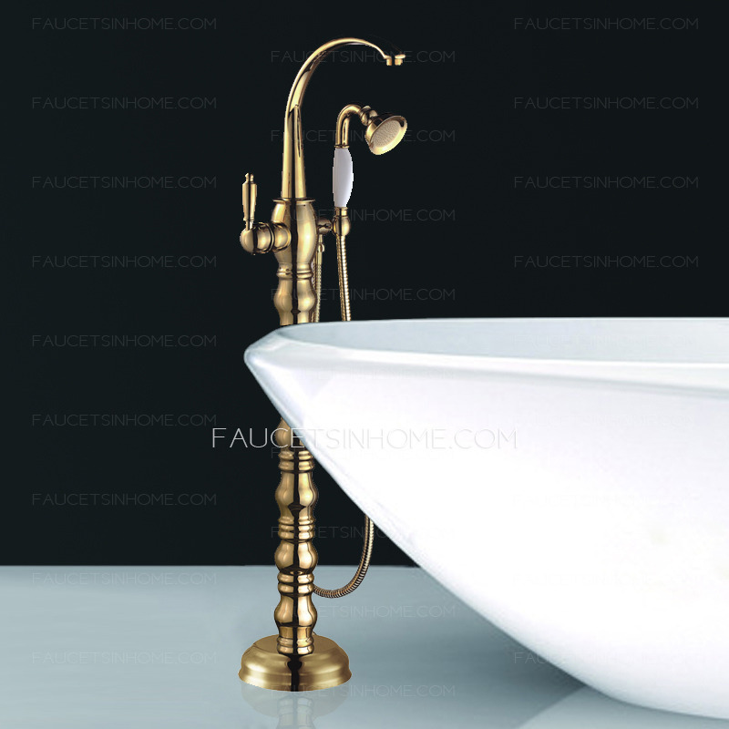 vintage kitchen faucets black table luxury gold roman style freestanding bathtub shower faucet