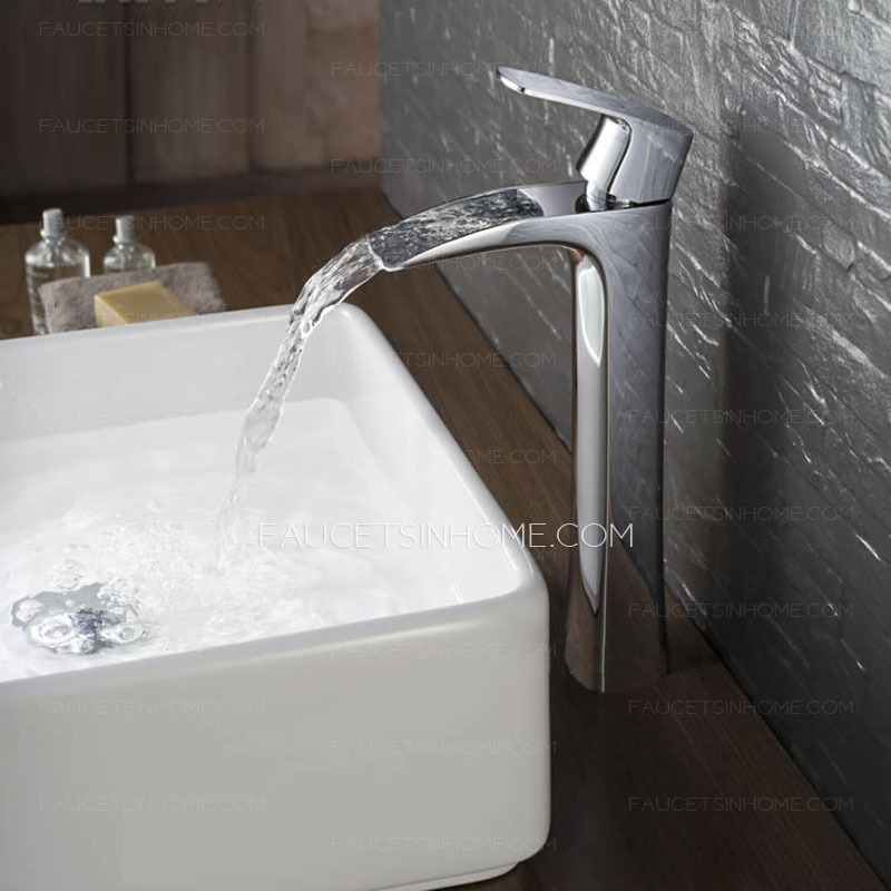 Modern Flat Design Hollowed Waterfall Cool Bathroom Sink