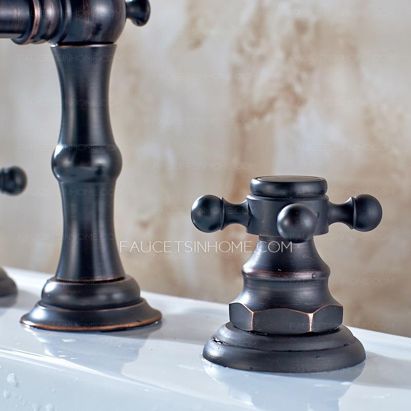 antique oil rubbed bronze black bathroom sink faucet ftsih150504095228