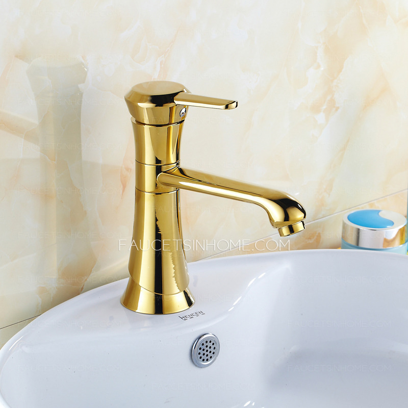 Discount Vintage Brass Single Hole Rotatable Sink Faucet