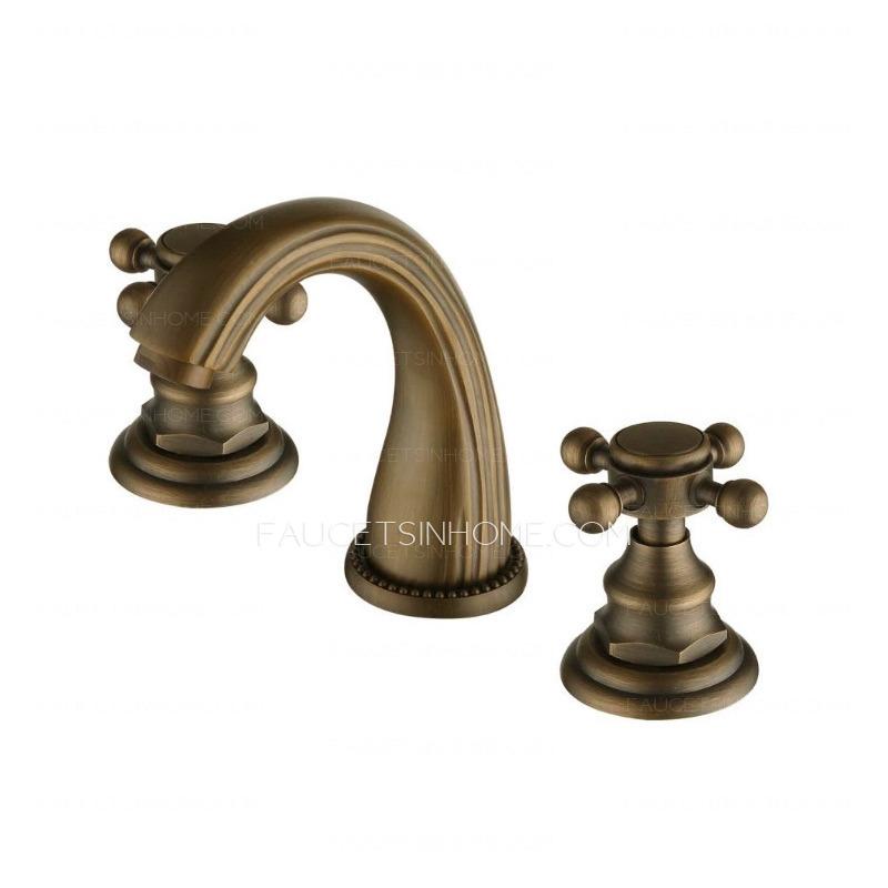 Vintage Antique Bronze Brass Brushed Bathroom Faucets
