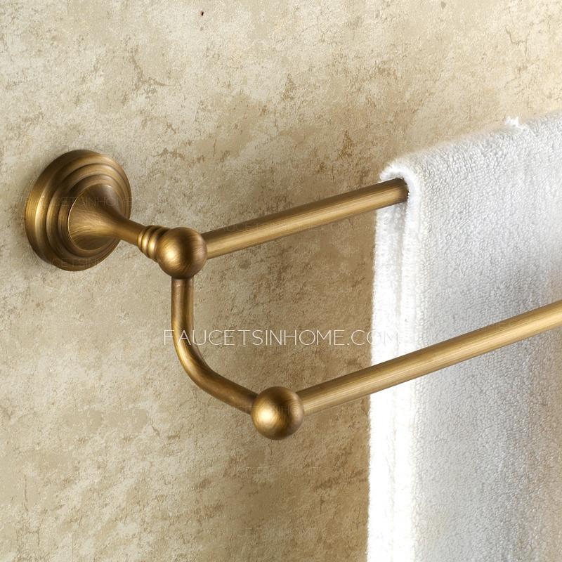 Antique Brass European Style Vintage Double Towel Bars