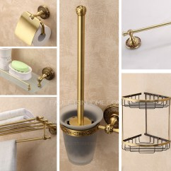 Kitchen Faucets Review Cherry Brook Expensive Brass Antique 6-sets Bathroom Accessory Set