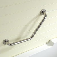Safety First Tub Stainless Steel L Shaped Angled Grab Bar