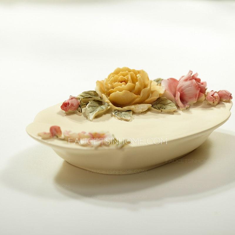 Decorative Handmade Plastic Soap Dishes Rose Floral
