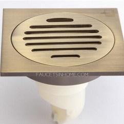 Antique Kitchen Faucet Wall Tile Ideas Brass Bathroom Linear Shower Drains
