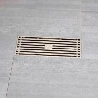 Brushed Nickel Linear Rectangular Shower Drains