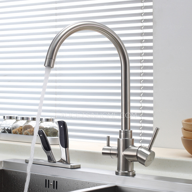 advanced stainless steel dual rotatable kitchen faucet for drinking water ftsih15052816315355