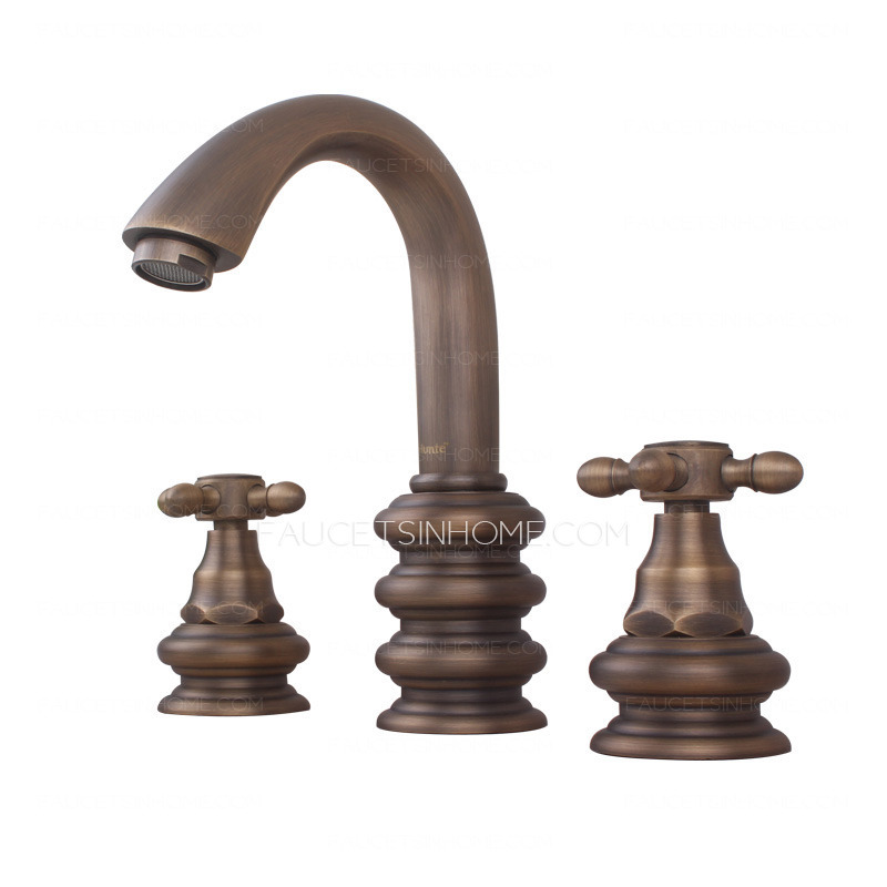 Top Rated Antique Bronze Three Hole Wide Spread Bathroom