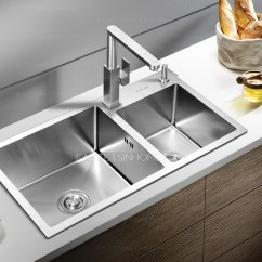 Polished Brass Kitchen Faucets Cupboards Designer Stainless Steel Rotatable Square Shaped ...