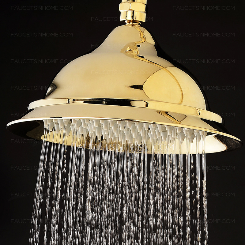 Unique Polished Brass Outdoor Shower Heads And Faucets