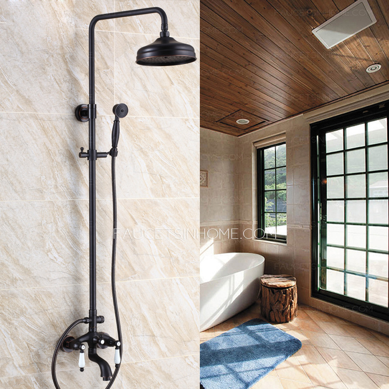 Antique Black Oil Rubbed Bronze Outdoor Bathroom Shower