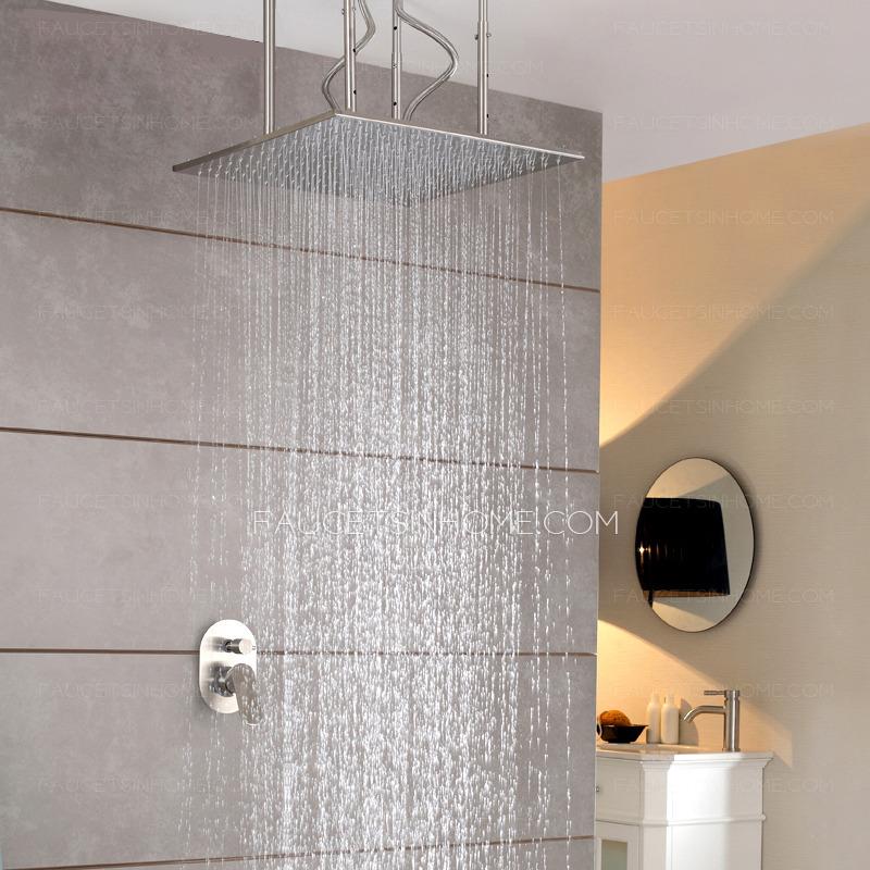 Designer Square Shaped Hanging Bathroom Top Shower Faucets
