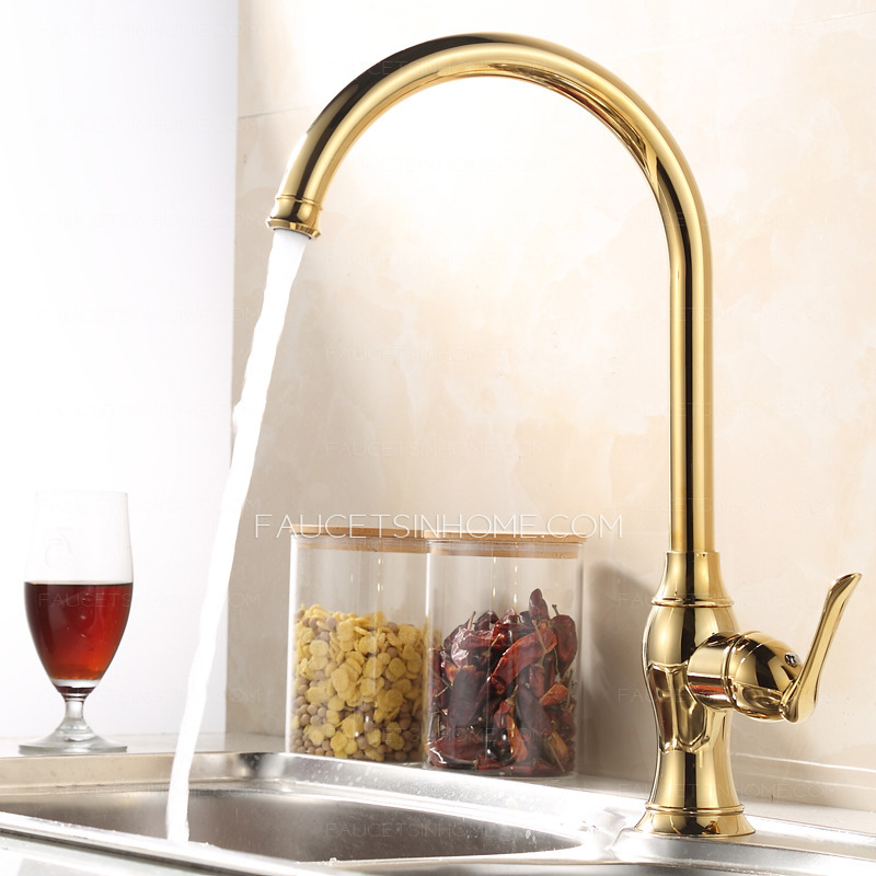brass faucet kitchen hinges for cabinets good golden faucets single hole handle