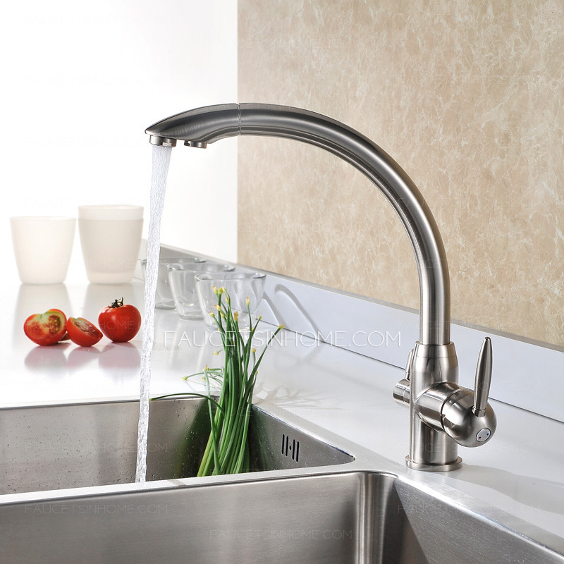 best brass brushed nickel kitchen faucets two handle fth11998