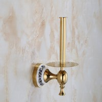 Decorative Brass Freestanding Toilet Paper Holders