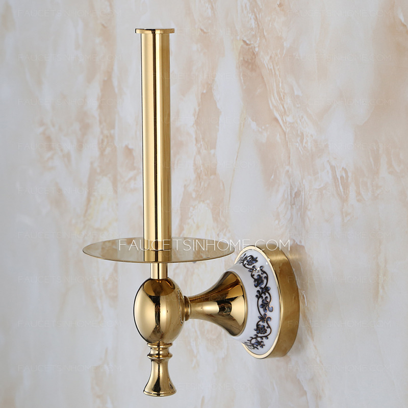 Decorative Brass Freestanding Toilet Paper Holders