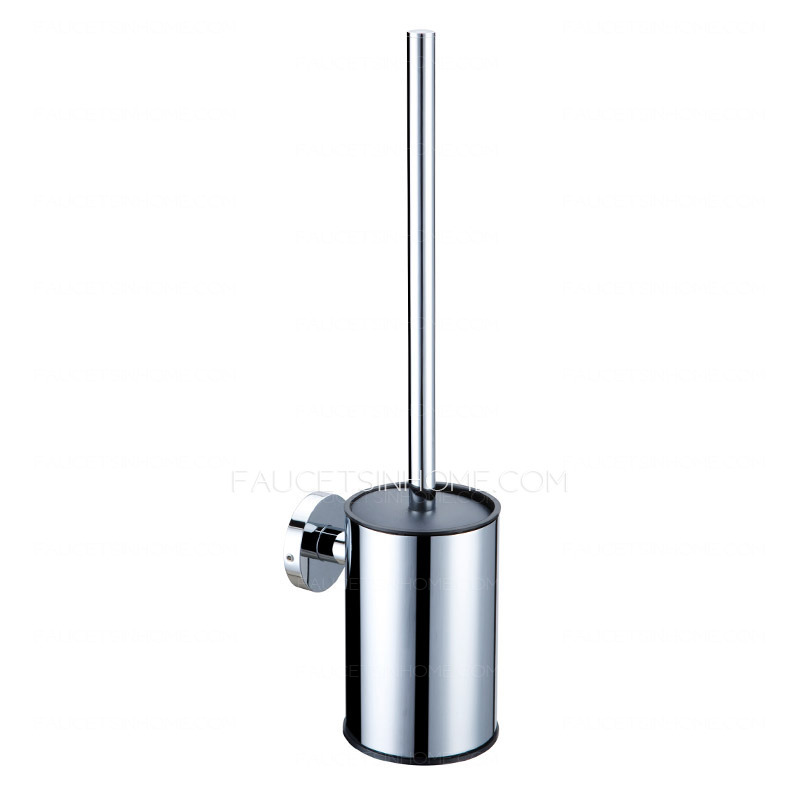Modern Stainless Steel Metal Wall Mount Toilet Brush Holder