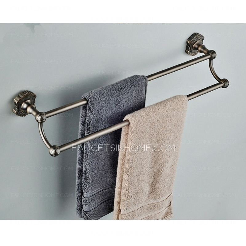 Antique Bronze Brass Double Towel Bars Bathroom