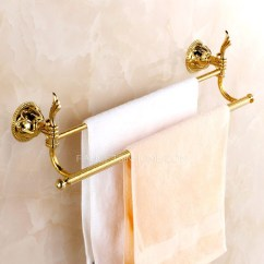 Polished Brass Kitchen Faucets Sink Pendant Light Decorative Golden Towel Bars Two