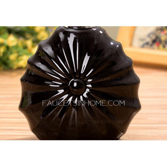 Decorative Ceramic Black Bathroom Soap Dispensers