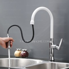 White Kitchen Faucet How Much To Reface Cabinets Designed Copper Chrome Finish Pullout Spray For Faucets