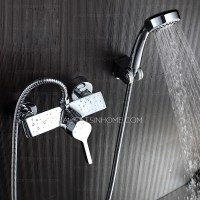 Silver Bathtub Shower Faucets Fashion Designer