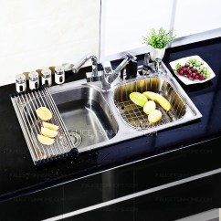Best Kitchen Sink Retro Furniture Sinks Nickel Brushed Stainless Steel With Pullout Spray Faucet