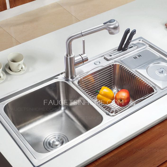 sink for kitchen home depot countertops laminate stainless steel multi functional double sinks