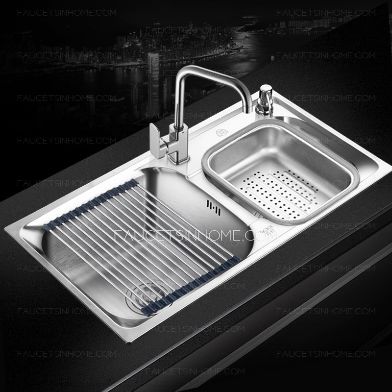 Double Sinks Large Capacity Kitchen Sinks With Faucet