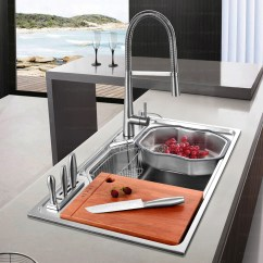Large Kitchen Sinks Cabinet Design Online Practical Capacity Single Bowl Stainless Steel