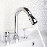 Designer Pull Out Widespread Modern Bathroom Faucets