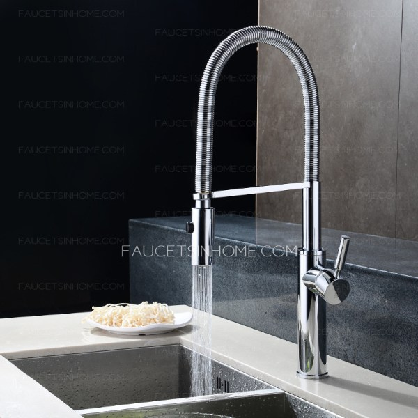Rotatable Handle Chrome High End Kitchen Faucets