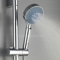 Simple Chrome Wall Mount Stainless Steel Modern Shower ...