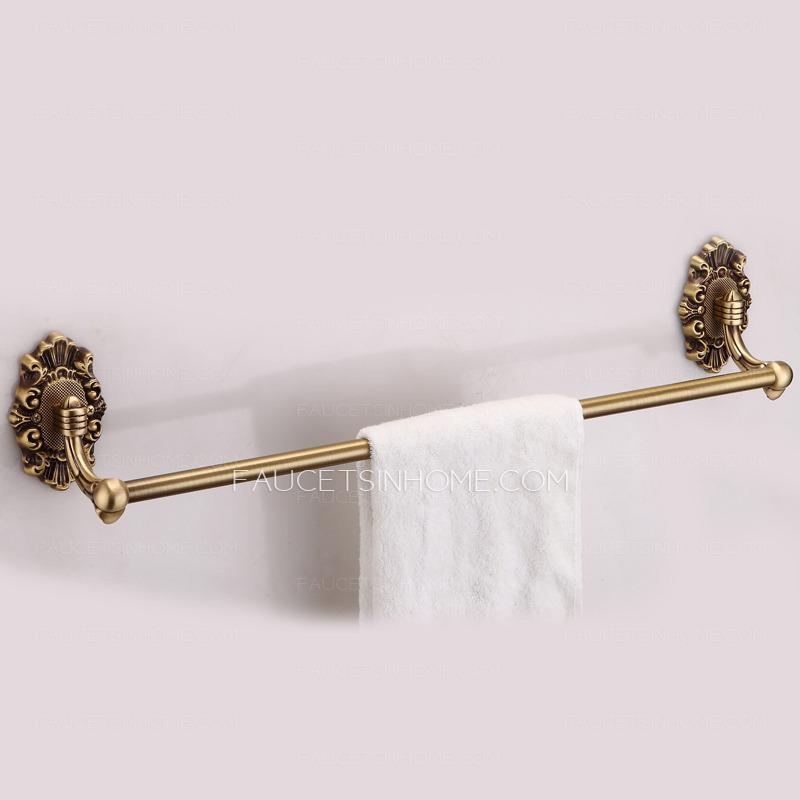 High End Brass Vintage Single Pole Towel Bar Bathroom