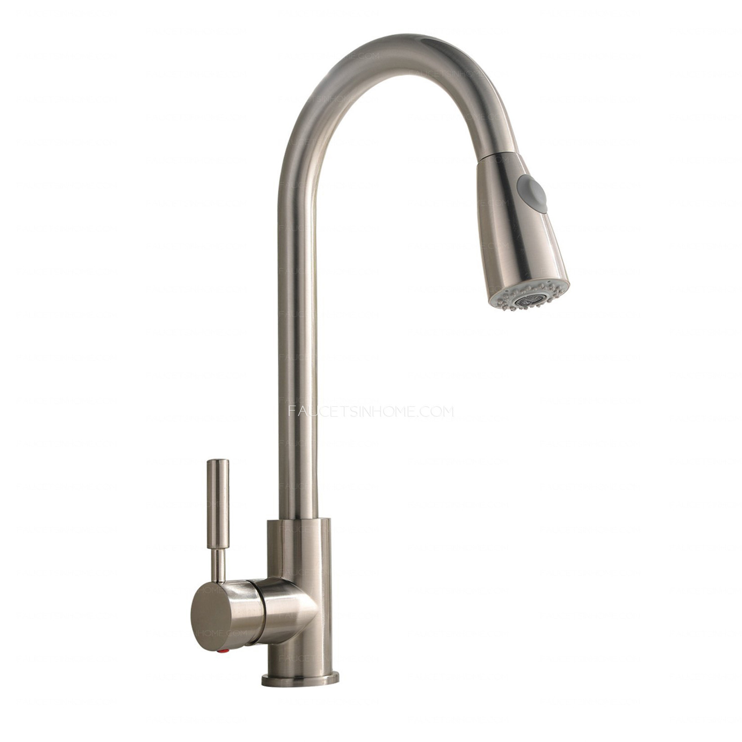 brushed nickel kitchen faucets stainless steel sink commercial rotatable brass pull down