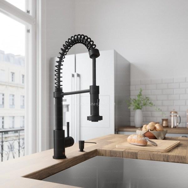 Matte Black Oil Rubbed Bronze Spring Kitchen Sink Faucet