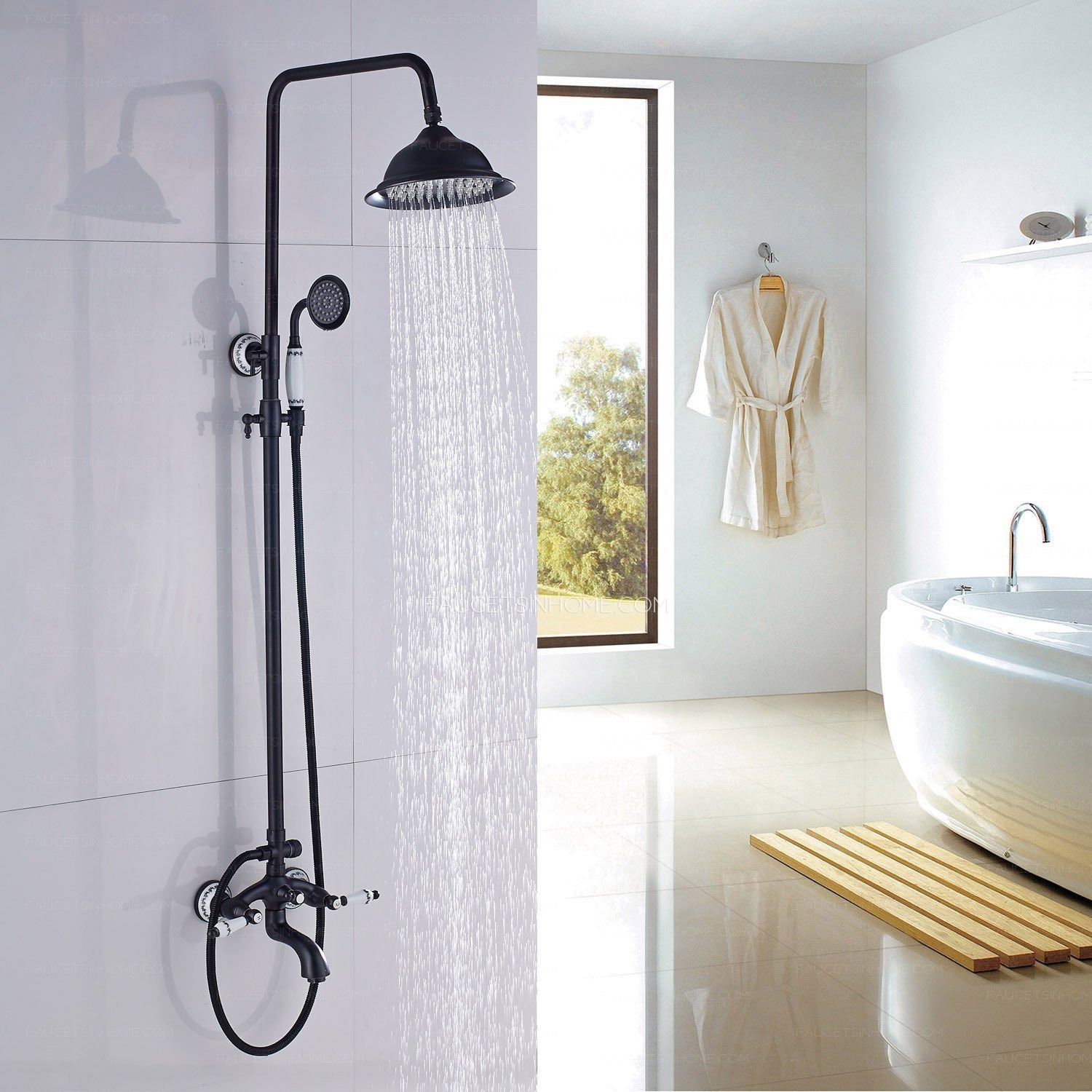 Oil Rubbed Bronze Shower Head Matte Black Bathroom Shower