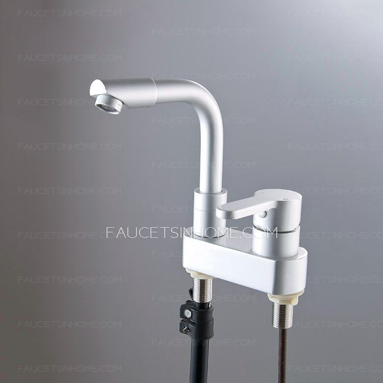 contemporary 2 hole aluminum bathroom sink faucet single handle fth1807241714367