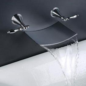 contemporary waterfall bathroom sink