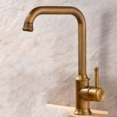 antique brass finish single handle