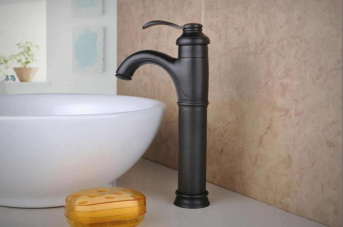 antique bronze kitchen faucet diy island on wheels style waterfall brass oil rubbed finish