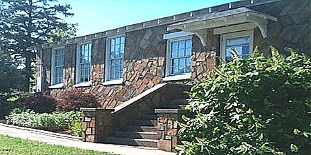 Twin Groves Library. Built by Silas Owens Sr.  Twin Groves, Faulkner County, Arkansas