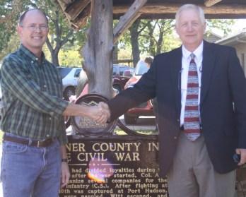 Civil War markers, Faulkner County, Arkansas
