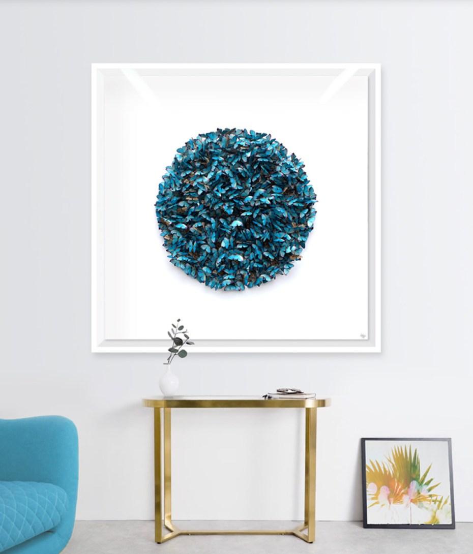 Faunart - Cluster Sphere - Blue Morpho