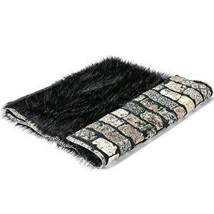 Couverture & plaid pour chien et chat Sabanah Metis Black Moon taille L, tissu JP Gaultier et fausse fourrure