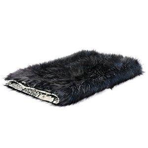 Couverture & plaid pour chien et chat Sabanah Metis Black Moon taille S, tissu JP Gaultier et fausse fourrure