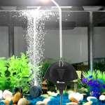 Pompe à air pour aquarium ultra-silencieuse pompe aquarium 1.8W et performant oxygène pompe de 5 à 60L(Noir)