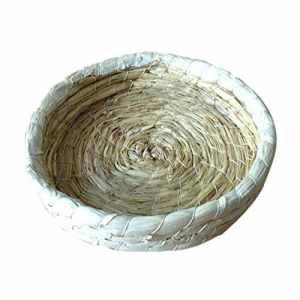 Roblue Nid d'herbe de Lapin Chambre de lit de paille d'herbe de paille Oiseau Cubby Nest Cage pour lapin 20CM