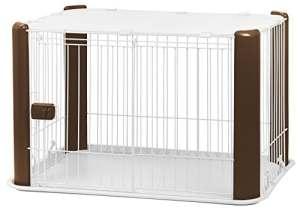 Iris Ohyama Pet Circle CLS-960, cage d'extérieur, enclos, chenil , parc pour chien, plastique, marron, 7.3 kg, 92 x 63 x 60 cm